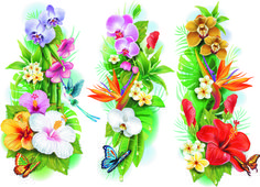 Simple flower border designs free vector download (18,213