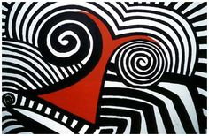 Alexander Calder, Slanting Red Nose, Gouache on Paper, 1969.