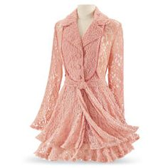 Coral Lace Jacket