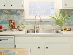 DIY Network has creative backsplash ideas that can be changed frequently, making them perfect for renters.