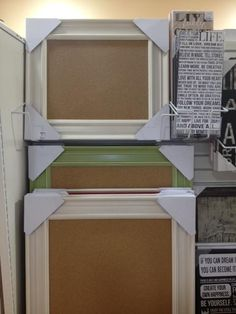 $24 a piece at homegoods. That's a great deal for framed pinboards @Carolyn Reed