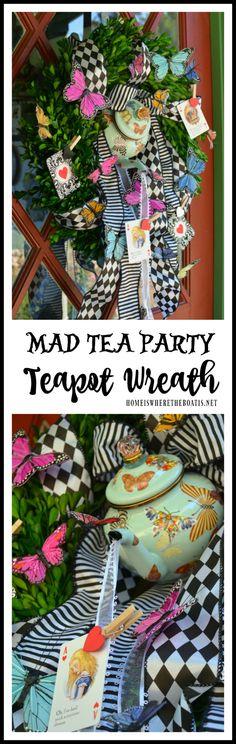 Mad Tea Party Teapot Wreath