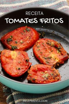 A receita desses tomates fritos vem do livro Jerus - Torta Sandwich Ideas Veggie Recipes, Vegetarian Recipes, Cooking Recipes, Healthy Recipes, Love Food, A Food, Food And Drink, Easy Meals, Yummy Food