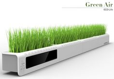 The Green Air is a mass of greens that you plant atop your monitor and use it as a frequent reminder to stop and smell the flowers! / TechNews24h.com