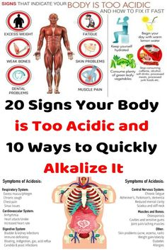 20 Signs Your Body is Too Acidic and 10 Ways to Quickly Alkalize It - Just Healthy Way
