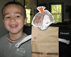 Paper Bag Princess Story & Craft. Great for fairy tale or princess/dragon storytime! Pattern for making your own paper bag princess.