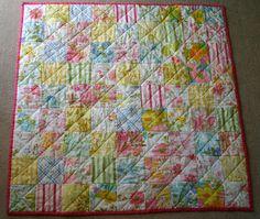 vintage sheet quilt by sparklecandace, via Flickr