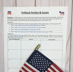 Blog post: Engage your students with this interactive political party webquest for AP or regular Government which leads them to think about and evaluate their own political beliefs! Students will consider which party's beliefs they share, and ultimately decide which political party they most closely align with. #notanotherhistoryteacher #politics