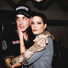 Halsey at blackbear's bday party last night!!