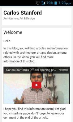 Artículo de bienvenida al blog (Inglés).