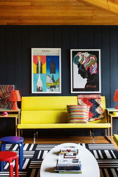 Colourful living room. Photography by Trevor Tondro/Living Inside. #decorate #interiors #interiordesign #livingroom