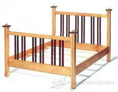 Maple Bed Plans - Furniture Plans and Projects - Woodwork, Woodworking, Woodworking Plans, Woodworking Projects