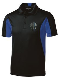 Are you looking for something sporty yet appealing to wear perhaps to one of your tennis or golf meets? Our Thin Blue Line Embroidered Spartan Helmet polo is the perfect item! It is made with moisture wicking and 100% polyester. Our polo is lightweight and snag-resistant, making it a stylish way to show support or gift to an officer.