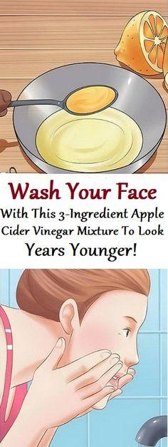 Apple cider vinegar face wash......