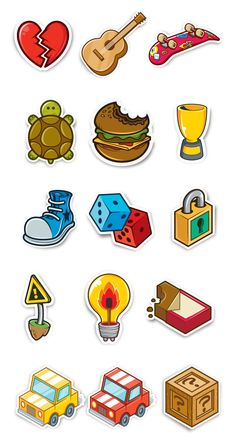 SEGA - Achievement Stickers by Greg Darroll , via Behance