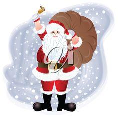 Santa Claus, greeting card design in vector format