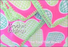 Crochet Edging: The Tool That Works Quick Crafts, Operation Christmas Child, It Works, Infant, Homemade, Tools, Children, Crochet, How To Make