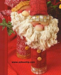 Christmas crafts with recycled materials ~ Solountip.com
