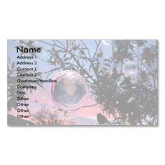 Midsummer's Eve Fairy Bubbles! Business Card. Original digital art.