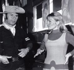 From the Lost In Space archives:  Great photo of Larry Flynn (from F Troop) and Marta Christian.