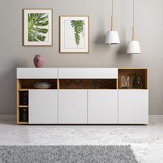 Diy Furniture Videos, Tv Unit Furniture, Sideboard Furniture, Home Furniture, Furniture Design, Home Room Design, Dining Room Design, Dressing Design, Crockery Cabinet