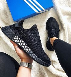 best sneakers 75933 4f0f9 What do you think of the deerupt in the all black colorway • 📸 fanamss  adidas deerupt…""
