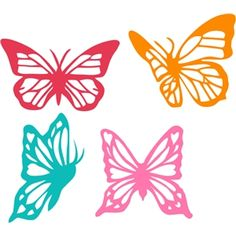 Silhouette Design Store: assorted butterfly filigree