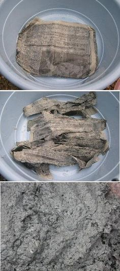 Photo of How to make papercrete containers.