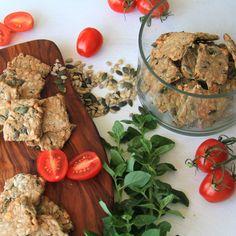 Semienkové celozrnné špaldové krekry | Babičkina voľba Hummus, Ethnic Recipes, Food, Basket, Essen, Meals, Yemek, Eten