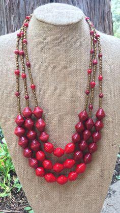 Red Ug beads--Project Hopeful