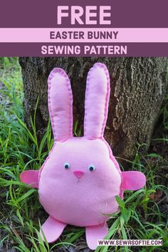 free stuffed bunny sewing pattern