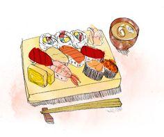 Sushi - Erica Sharp Illustration