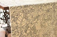 【HOKKOH】ワンダーフォレスト(wonder forest)/鳥・植物柄/バニラン織り/コットン生地/生成り