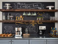 diy coffee bar, fixer upper-Mission Stone Tile
