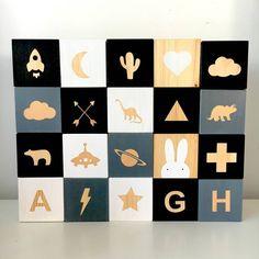 Wooden Shape Play Cubes