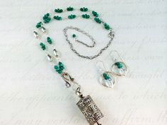 Buddhist prayer wheel (with real prayer inside), Russian Apatite,Sterling and fine silver. Adjustable necklace, pendant removable