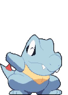 raichus:   Here is a cute happy Totodile to cheer you up on your blue days.