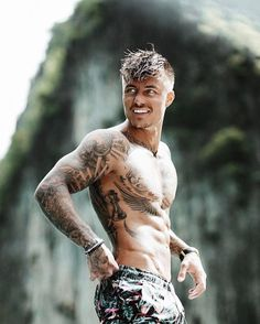 Johnny Edlind, Sweden - New Tattoo Models Hot Guys Tattoos, Sexy Tattoos, Body Art Tattoos, Sleeve Tattoos, Tatoos, Virgo Tattoos, Johnny Edlind, Sexy Tattooed Men, Tatted Men