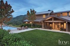 Contemporary Exterior with Pool
