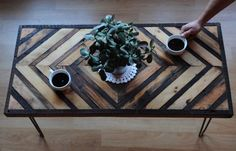 Reclaimed wood coffee table by UniqueIndustry on Etsy