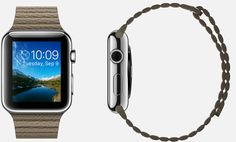 #Apple #Watch  42mm Case 316L Stainless Steel,  Sapphire Crystal Display, Ceramic Back,  Leather Loop Light Brown Leather,   Magnetic Closure