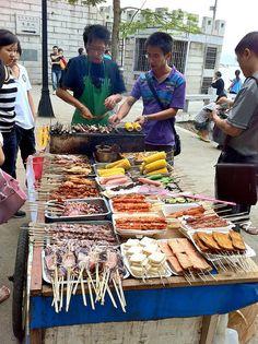 BBQ stand, in Xiamen, Fujian, China