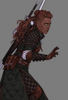 Female Witcher OC Jadzia by Ari ( - Fantasy Figuren Fantasy Character Design, Character Creation, Character Design Inspiration, Character Concept, Character Art, Concept Art, Fantasy Rpg, Fantasy Women, Medieval Fantasy