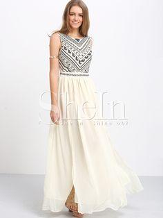 Apricot+Sleeveless+Split+Embroidered+Maxi+Dress+28.59