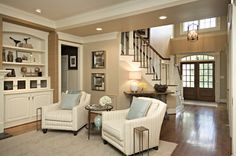 Family Room Design Ideas, Inspiration, Pictures, Remodels and Décor- built ins - love them.