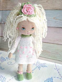 Amigurumi crochet doll.