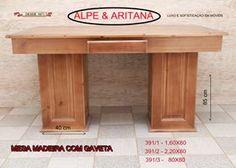 Linda mesa de madeira com gaveta. Acesse nosso site: www.alpearitana.com.br ou fale conosco: marketing@alpearitana.com.br