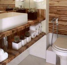 lavabos decorados rusticos - Pesquisa Google