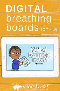 Digital Mindfulness Breathing Exercises & Video SEL Lesson for Distance Learning Elementary Counseling, Counseling Activities, Learning Activities, Career Counseling, School Counselor Lessons, Elderly Activities, Mindfulness For Kids, Mindfulness Activities, Character Education