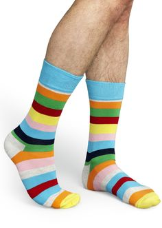 Happy Socks, Striped, Pretty Much Every Color, for Men and Women (Unisex)
